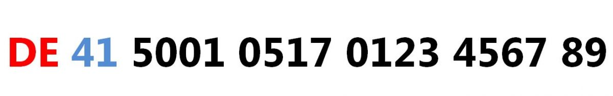 In The Above Example This German Iban Has Country Code De Following Digits 41 Are Check And Validate Routing Destination